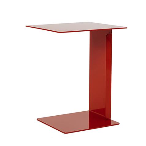Beistelltisch HILLROY rot - kleiner Tisch in modernem Design