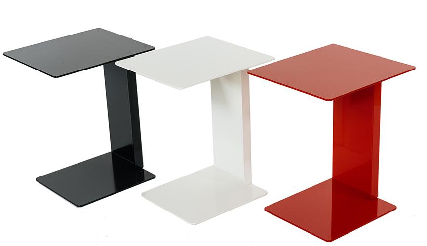 beistelltisch hillroy wei f r wohnzimmer und schlafzimmer vierkantig. Black Bedroom Furniture Sets. Home Design Ideas